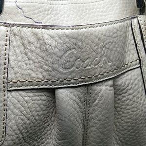 Coach Bags - Coach Cream White Leather Women Purse Handbag Bag